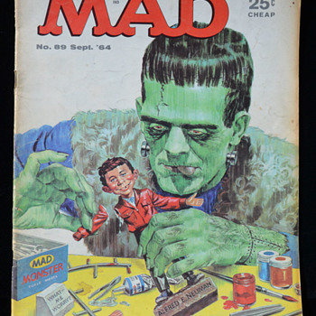 MAD Magazine - #89 September 1964 - Paper