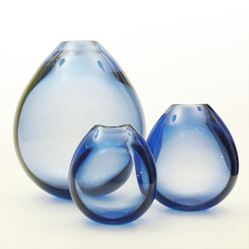 SAFIR teardrop vases, Per Lütken (Holmegaard, 1955) - Art Glass