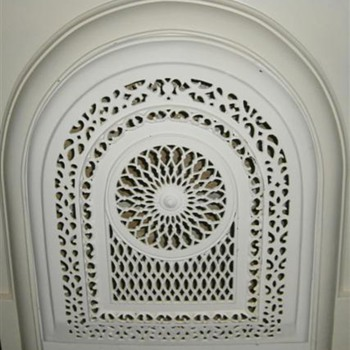 Victorian Cast Iron Fireplace Summer Screen - Victorian Era