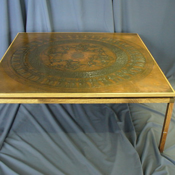 copper top coffee table - Furniture