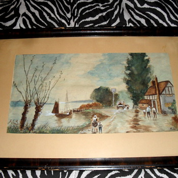 Folk Art Painting signed J. Todd