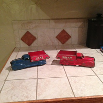 2 More Marx Trucks 9 in - Model Cars