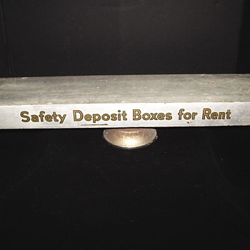 "Advertising Swivel Safety Deposit Box""Bank Salesman Display Box,First quarter of XX century"""""
