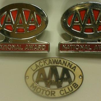 Vintage AAA emblems