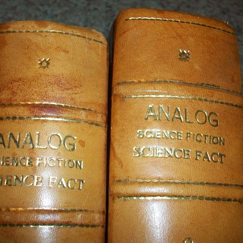 LEATHER BOUND ANALOG SCIENCE FICTION SCIENCE FACT BOOKS - Books