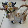 Decorative Cow with Flowers