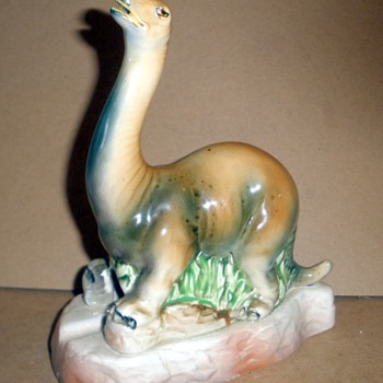 "Vintage ""Smoking"" Dinosaur Brachiosaurus Ceramic Ashtray"