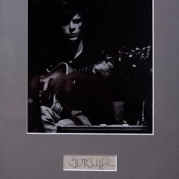 Stu Sutcliffe signature...