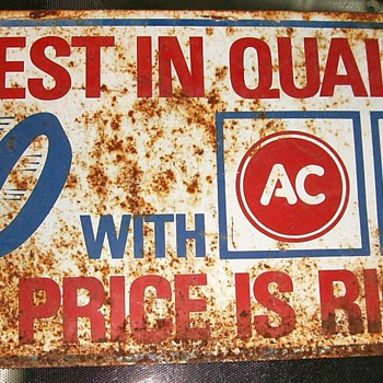 AC Delco Sign - Advertising