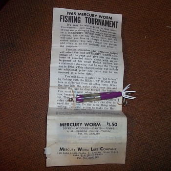 1965 MERCURY FISHING PLUG