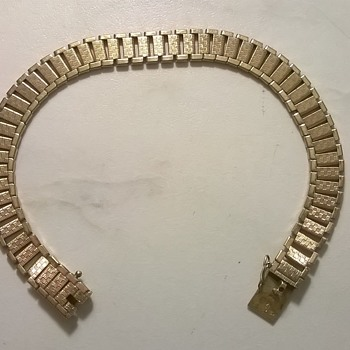"Friedrich Speidel ""Bi-Metal"" Double' Bracelet, 1940s (?) Flea Market Find"