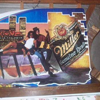 Miller High Life New York with Twin Towers - Signs