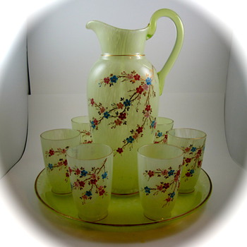 Harrach Lemonade Set, ca. 1890s - Art Glass