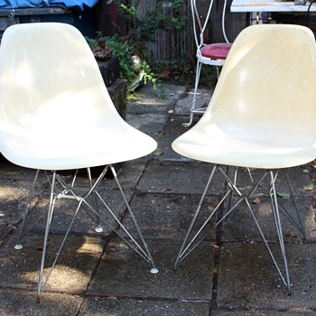 Herman Miller Eiffel Tower Chairs and a Steelcase Chair