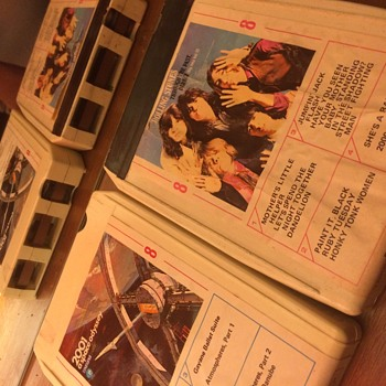 8 track Rolling Stones and 2001 Space Odyssey