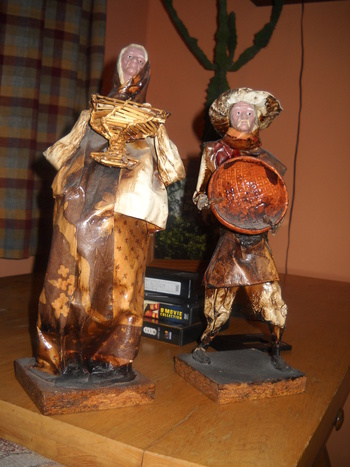 Man And Woman Paper Mache Dolls Collectors Weekly