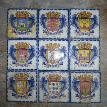 crest tiles?...spanish - Art Pottery