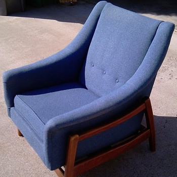 Mid Century Danish Modern Style Platform Rocking Chair by Paoli Chair Co.