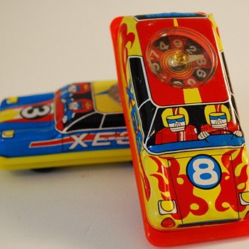 Tin Toy Roulette Cars Made in Japan - Model Cars