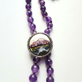 New use for bead necklaces and brooches: lariat/neglige necklace!