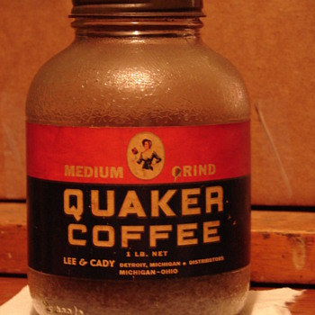 This is a Quaker Coffee Jar