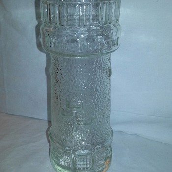 Vintage Red Lobster Lighthouse Glass