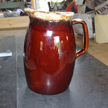 Brown Hull Pitcher  - Art Pottery