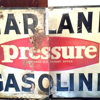 Marland gasoline sign