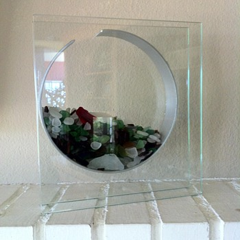 Modern Glass Panel Vase - Art Glass