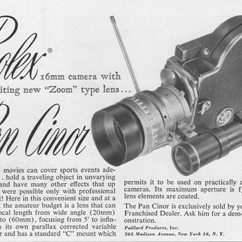 1952 - Bolex Movie Camera Advertisement