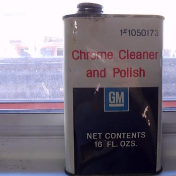 G M Metal tin.