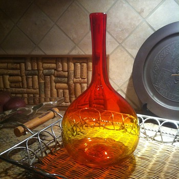 Tangerine Glass Vase Blenko?