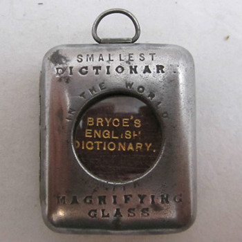 World's smallest dictionary