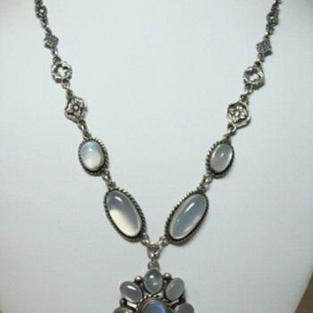 Arts and Crafts Moonstone Necklace