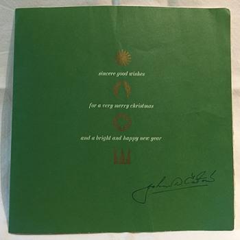 The T. EATON Co. Limited, Winnipeg John D. Eaton Christmas Card - Cards