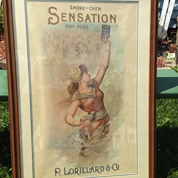 Sensation Cut Plug Tobacco Poster - Advertising
