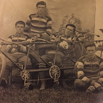 Quad Cycle tintype from the 1890s - Photographs