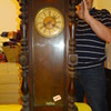 tall wooden clock