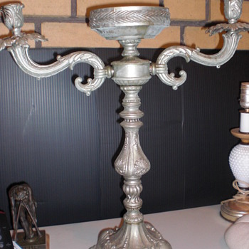 Pewter Candelabra?? - Lamps