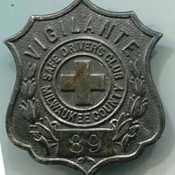 Milwaukee Vigilante Badge - Medals Pins and Badges