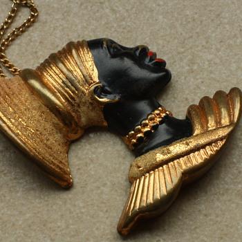 Vintage blackamoor pendant - Costume Jewelry