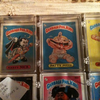garbage pail kids cards Series 1 and beyond.