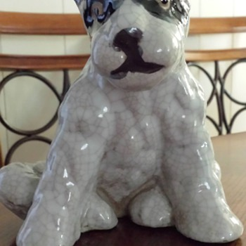 Pottery Terrier Dog