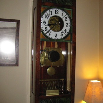 1920 O. B. McClintock master clock - Clocks