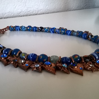 Thrift Shop Find! Rodrigo Otazu Murano Glass Beads/Swarovski Necklace
