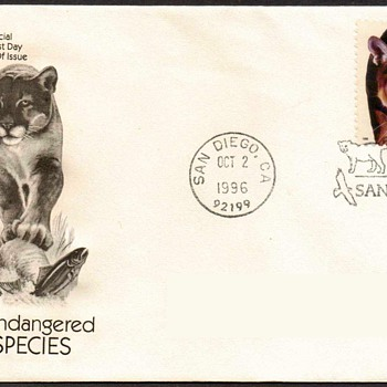 "1996 - ""Florida Panther"" Stamp First Day Cover"