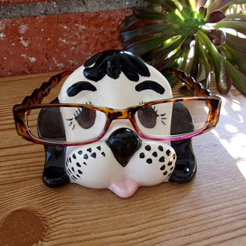 Mid-century Ceramic Puppy Eyeglass Holder