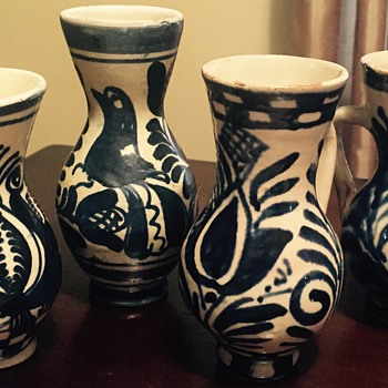 Little pottery vases