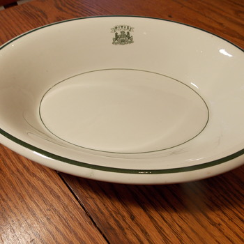 PTS Pennsylvania W.C. Ayres Co. Jackson China Vitrified china serving bowl restaurant ware  - China and Dinnerware