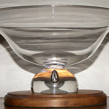 Two Clear Glass Centerpiece Bowls